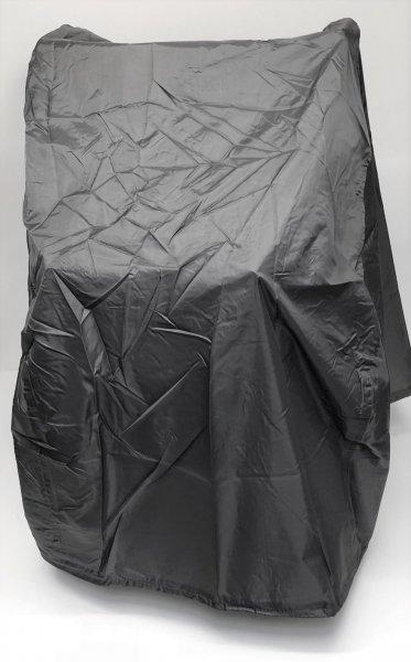 Abdeckhaube für Rollator mit Bleiband Farbe grau