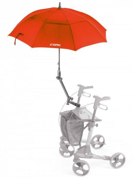 Schirm mit Multifunktionsarm rot