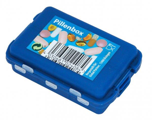 Pillenbox 9,5x6,3x3 cm PP Kunststoff