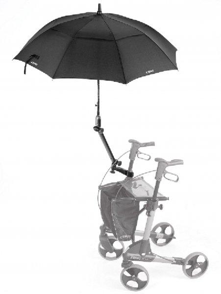 Schirm mit Multifunktionsarm schwarz