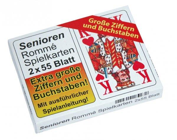 Senioren-Rommè-Spielkartenset