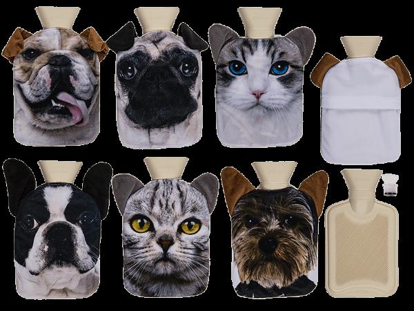 Wärmflasche Dogs & Cats sortierte Motive 0,7 Liter