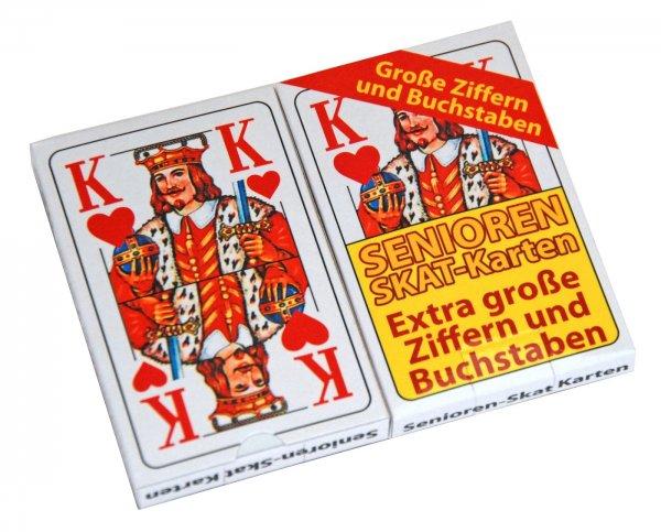 Senioren-Skat-Spielkarten, 2 er Pack